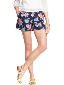floral shorts